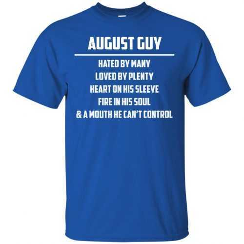 August guy hated by many loved by plenty heart on his sleeve shirt, tank - image 551 500x500
