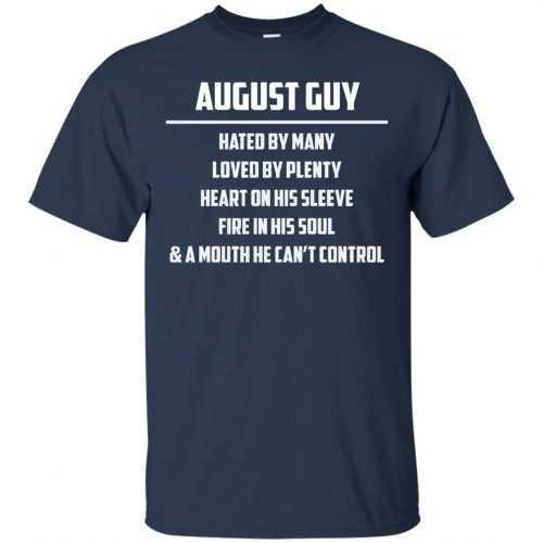 August guy hated by many loved by plenty heart on his sleeve shirt, tank - image 552 500x500
