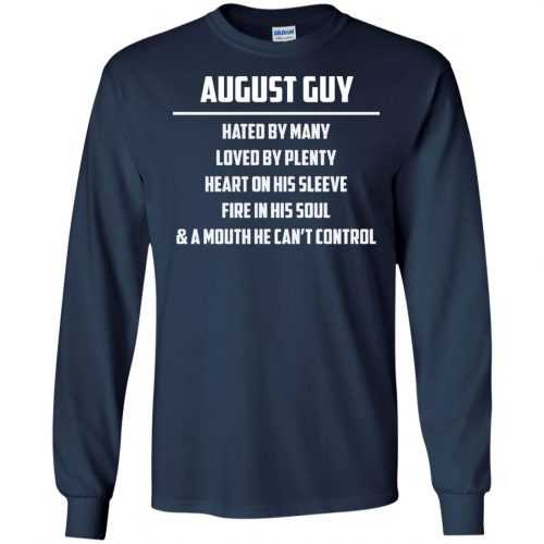 August guy hated by many loved by plenty heart on his sleeve shirt, tank - image 554 500x500