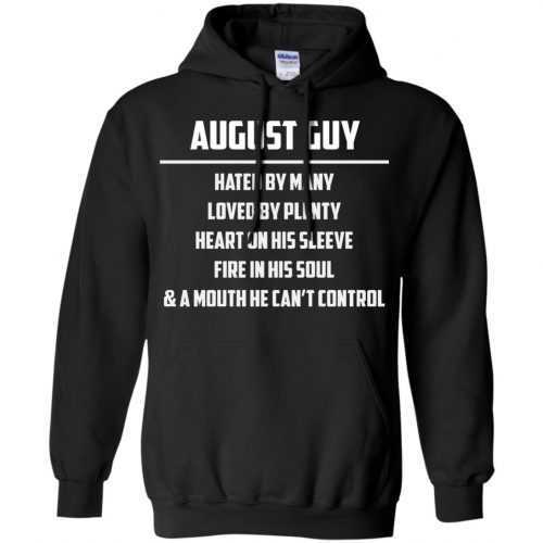 August guy hated by many loved by plenty heart on his sleeve shirt, tank - image 555 500x500
