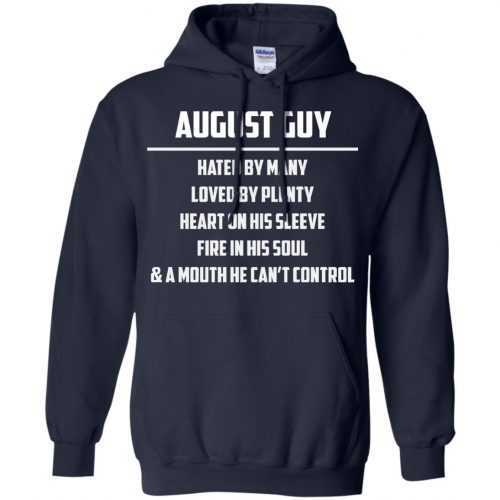 August guy hated by many loved by plenty heart on his sleeve shirt, tank - image 556 500x500