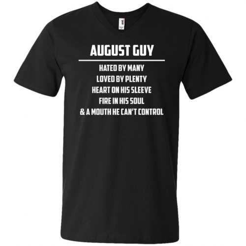 August guy hated by many loved by plenty heart on his sleeve shirt, tank - image 559 500x500