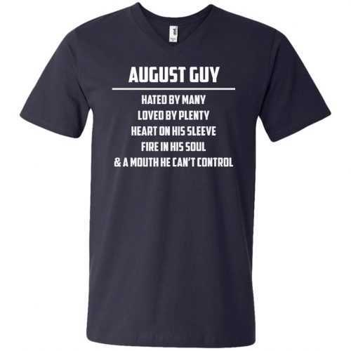 August guy hated by many loved by plenty heart on his sleeve shirt, tank - image 560 500x500