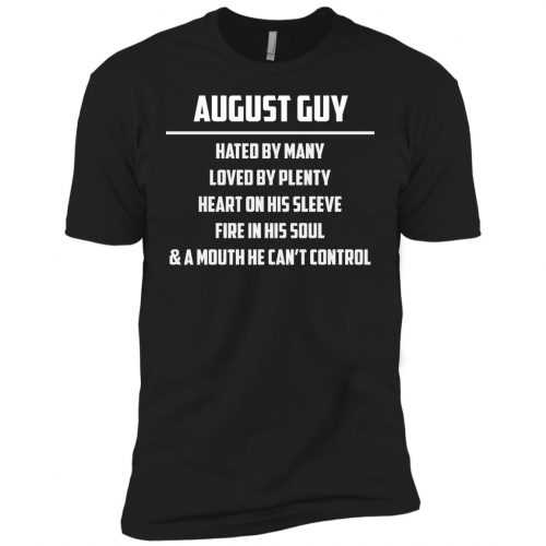 August guy hated by many loved by plenty heart on his sleeve shirt, tank - image 561 500x500