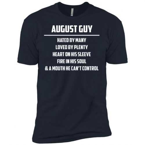 August guy hated by many loved by plenty heart on his sleeve shirt, tank - image 562 500x500