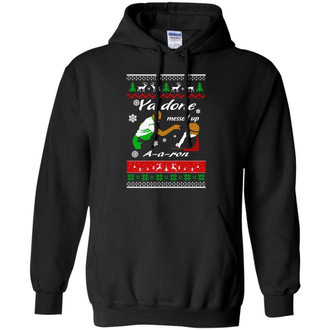 ya done messed up a a ron christmas sweater hoodie image 619 500x500