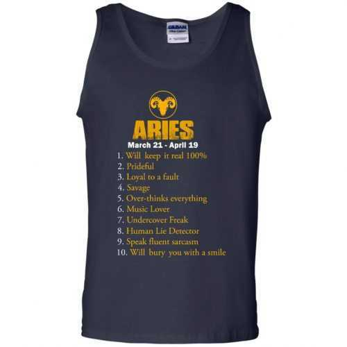 Zodiac Aries: Will make it real 100% shirt, tank, hoodie - image 8 500x500