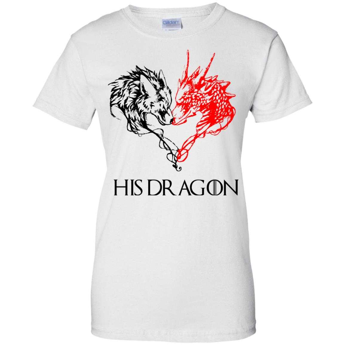 Game of thrones his dragon white shirt hoodie tank for Throne of games shirt