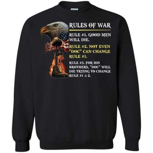 Rules of war: Rule #1 good men will die t-shirt, hoodie - image 500 500x500