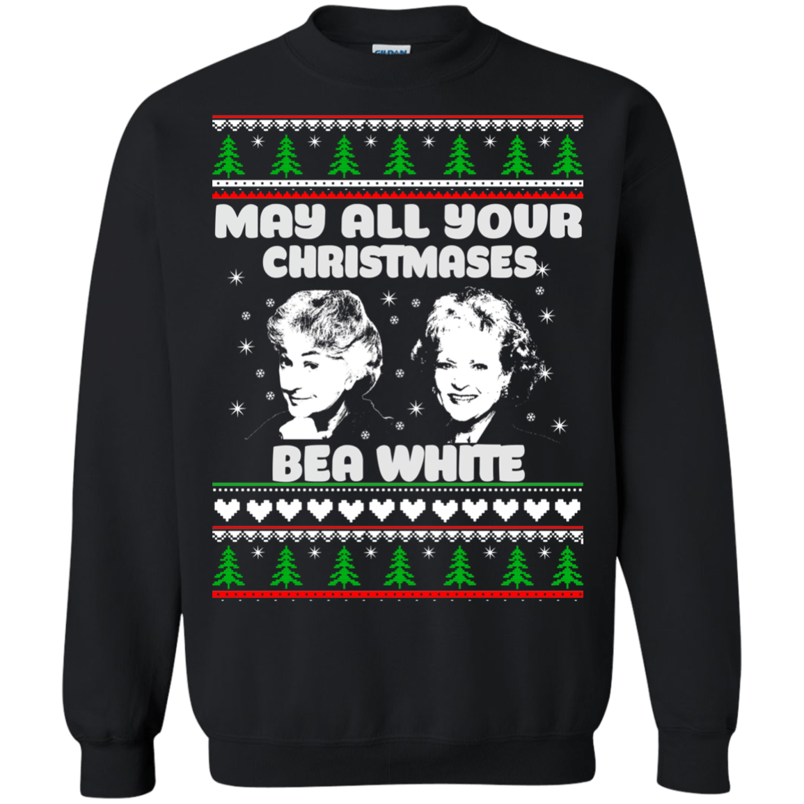golden girls may all your christmas bea white sweater hoodie image 513 500x500