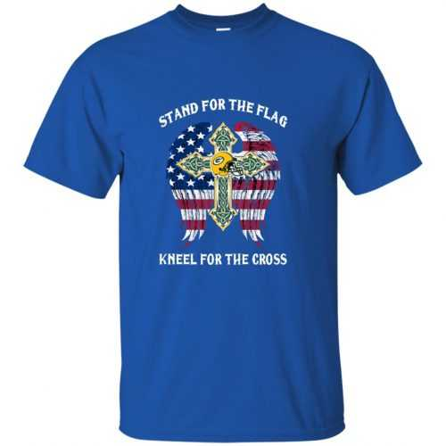 Green Bay Packers: Stand for the Flag Kneel fo the Cross shirt, tank, hoodie - image 520 500x500