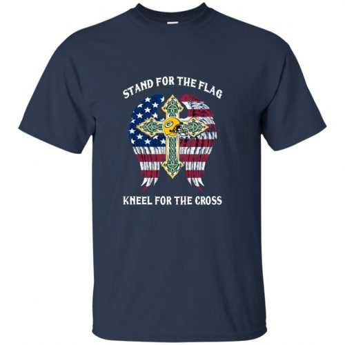 Green Bay Packers: Stand for the Flag Kneel fo the Cross shirt, tank, hoodie - image 521 500x500