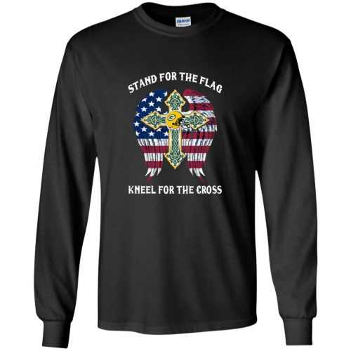 Green Bay Packers: Stand for the Flag Kneel fo the Cross shirt, tank, hoodie - image 522 500x500
