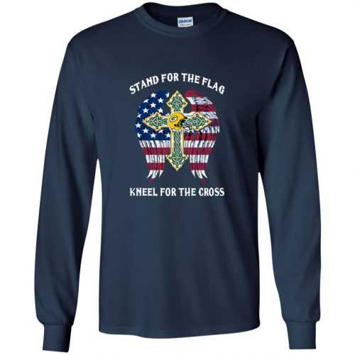 Green Bay Packers: Stand for the Flag Kneel fo the Cross shirt, tank, hoodie - image 523 500x500