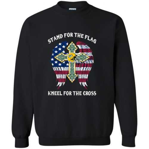 Green Bay Packers: Stand for the Flag Kneel fo the Cross shirt, tank, hoodie - image 526 500x500