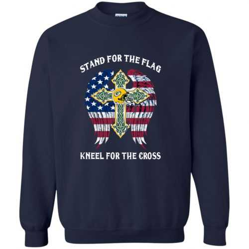 Green Bay Packers: Stand for the Flag Kneel fo the Cross shirt, tank, hoodie - image 527 500x500
