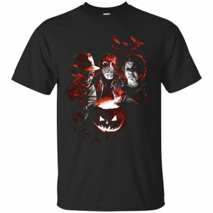Michael-Myers, Jason Voorhees, Freddy Krueger Halloween shirt - image 631 300x300