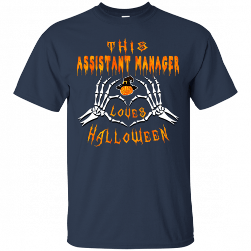 This assistant manager loves Halloween shirt, hoodie - image 938 500x500