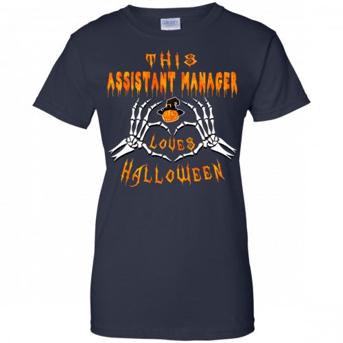 This assistant manager loves Halloween shirt, hoodie - image 948 500x500
