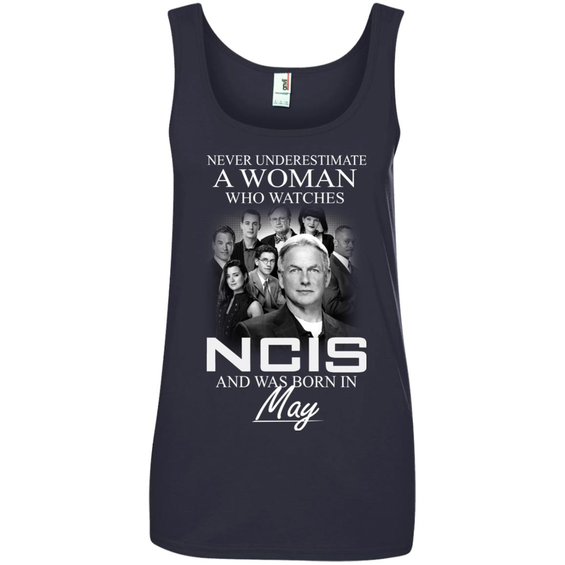 Never underestimate A Woman who watches NCIS and was born in May shirt - image 1191