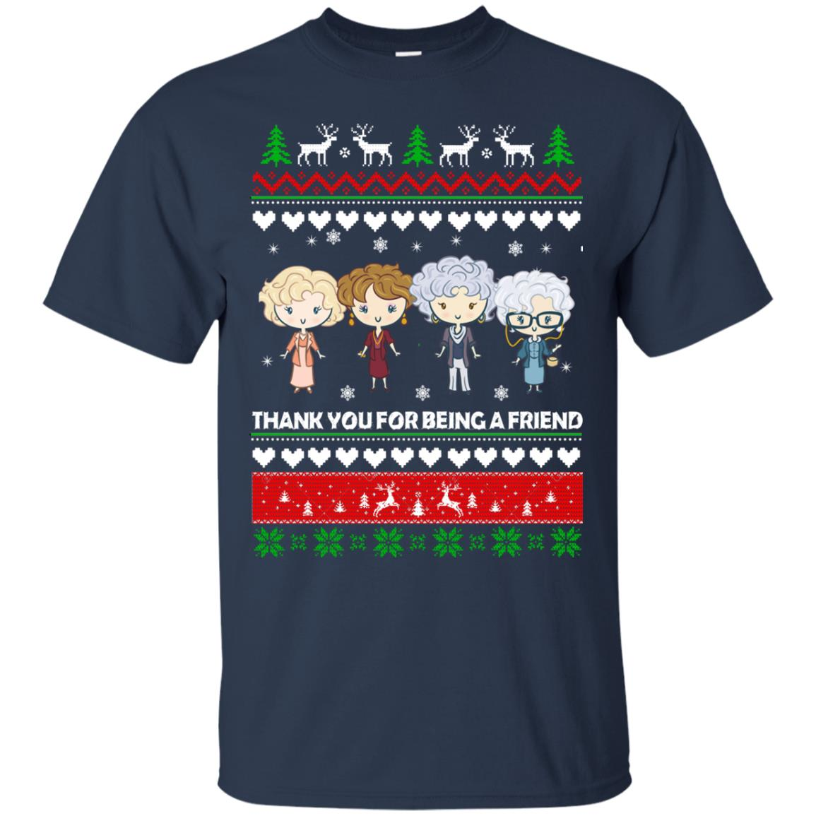 golden girls thank you for being a friend christmas sweater hoodie image 1658 - Girls Christmas Sweater