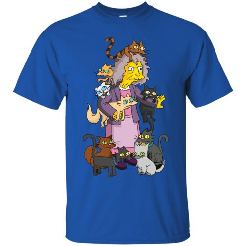 The Simpsons Crazy Cat Lady shirt, sweater - image 1837 500x500