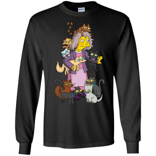 The Simpsons Crazy Cat Lady shirt, sweater - image 1839 500x500