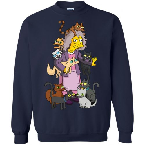 The Simpsons Crazy Cat Lady shirt, sweater - image 1844 500x500