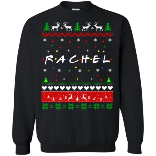 Best Friends SweatShirt: Rachel Friends Christmas Sweater, Long Sleeve - image 1919 500x500