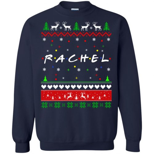 Best Friends SweatShirt: Rachel Friends Christmas Sweater, Long Sleeve - image 1920 500x500