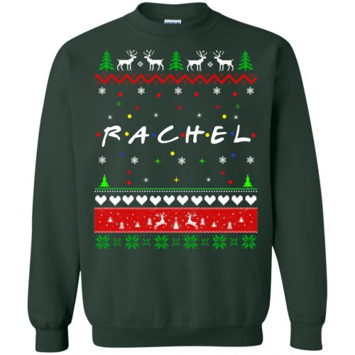 Best Friends SweatShirt: Rachel Friends Christmas Sweater, Long Sleeve - image 1921 500x500