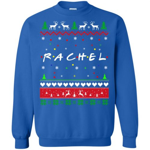 Best Friends SweatShirt: Rachel Friends Christmas Sweater, Long Sleeve - image 1922 500x500