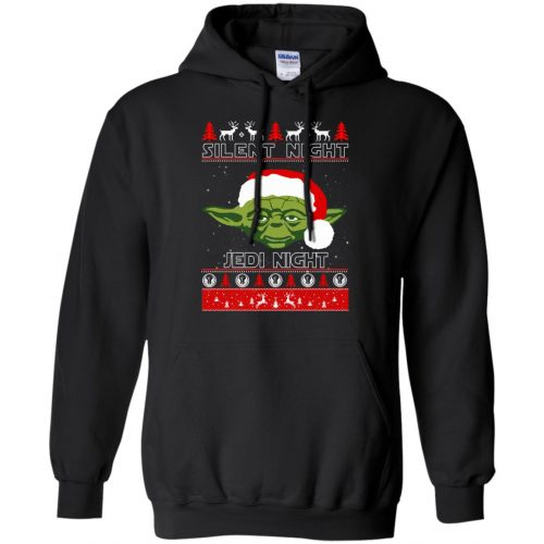 Star Wars Yoda Silent Night Jedi Night ugly Christmas Sweatshirt, Hoodie - image 2810 500x500