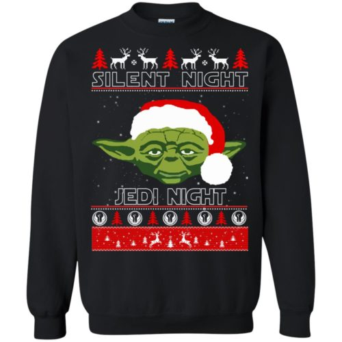 Star Wars Yoda Silent Night Jedi Night ugly Christmas Sweatshirt, Hoodie - image 2812 500x500