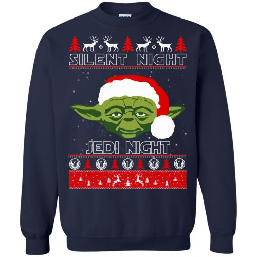 Star Wars Yoda Silent Night Jedi Night ugly Christmas Sweatshirt, Hoodie - image 2813 500x500