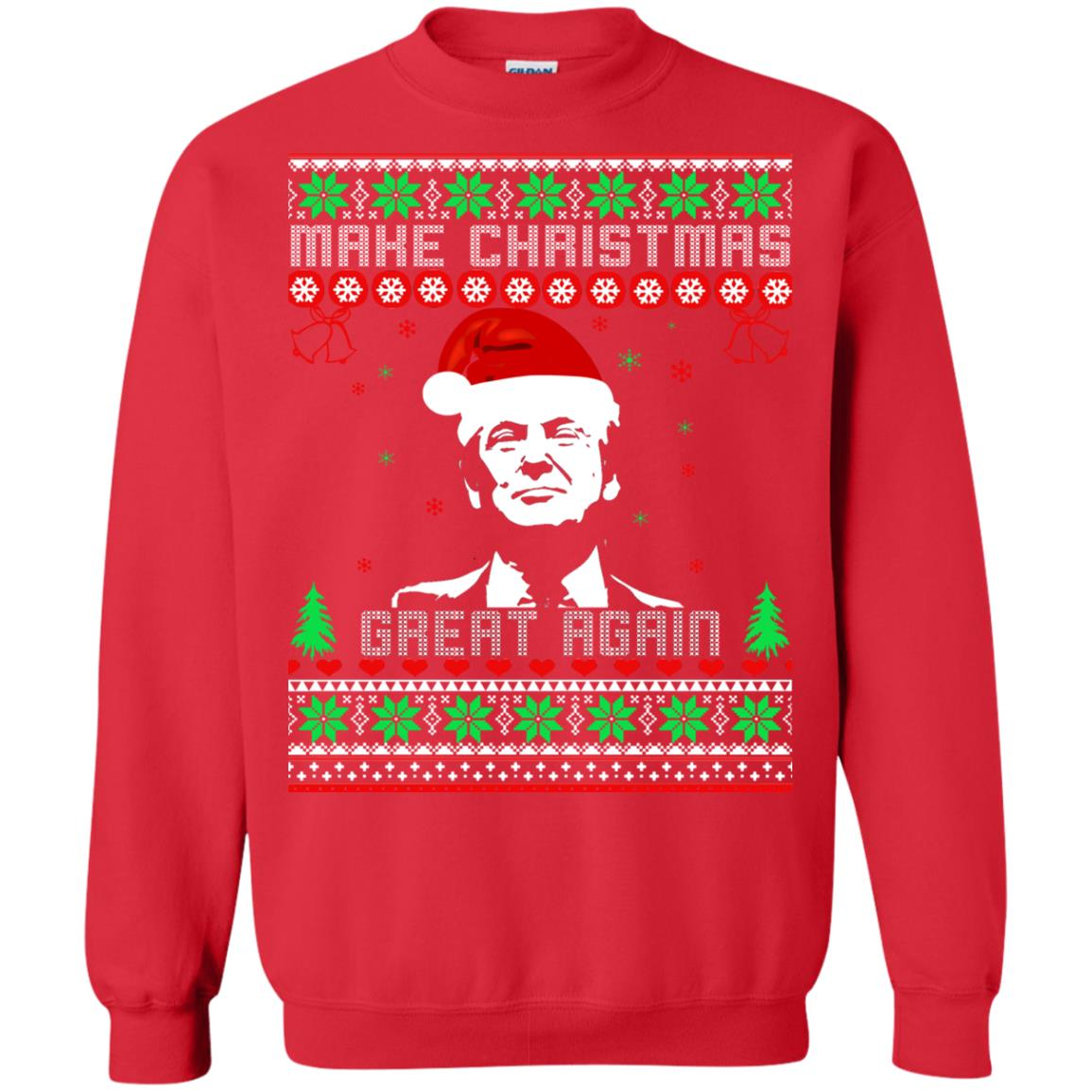 donald trump make christmas great again sweater shirt image 3046 500x500