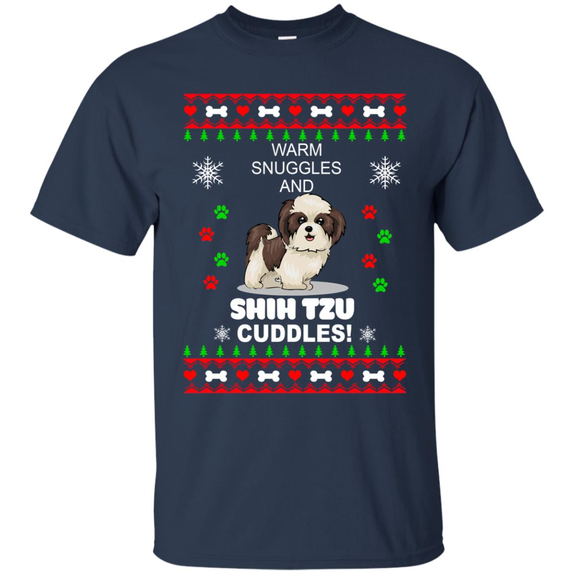 Warm snuggles and ShihTzu cuddles Christmas Sweater, Shirt - image 3980