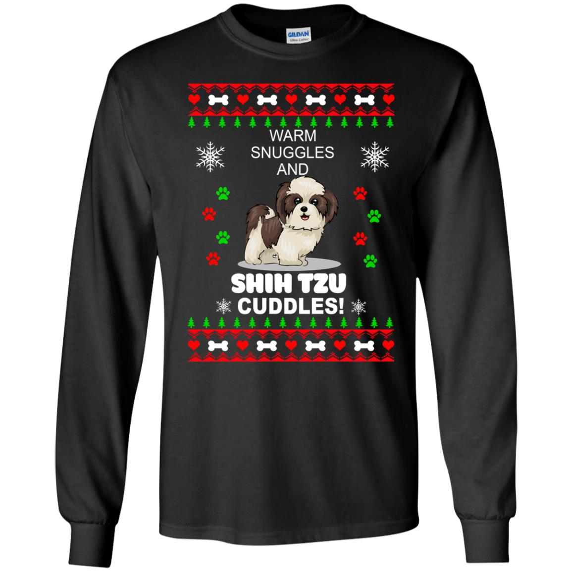 Warm snuggles and ShihTzu cuddles Christmas Sweater, Shirt - image 3981