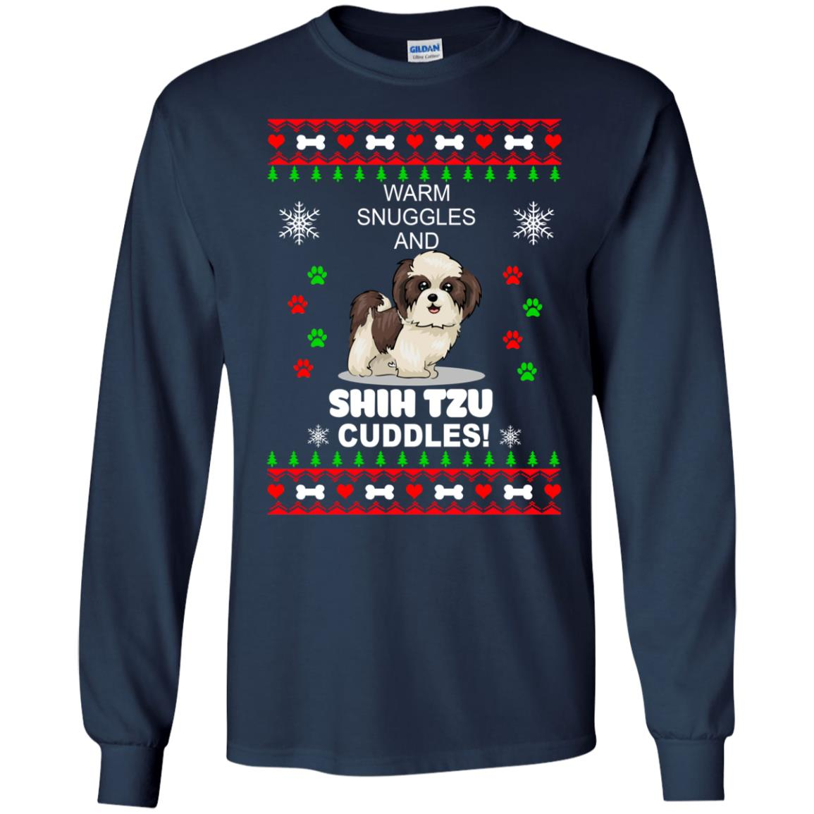 Warm snuggles and ShihTzu cuddles Christmas Sweater, Shirt - image 3983