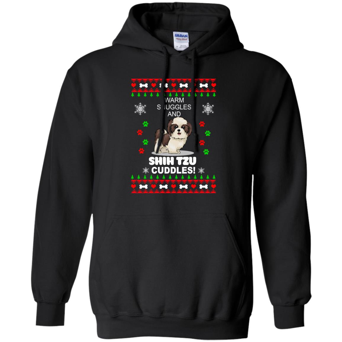 Warm snuggles and ShihTzu cuddles Christmas Sweater, Shirt - image 3984