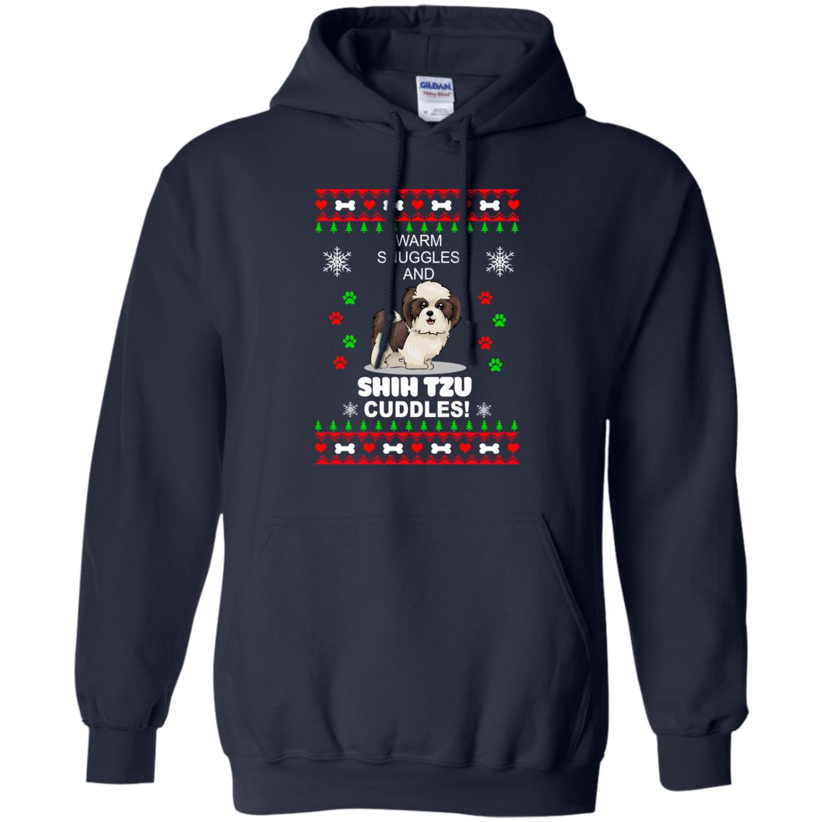Warm snuggles and ShihTzu cuddles Christmas Sweater, Shirt - image 3985