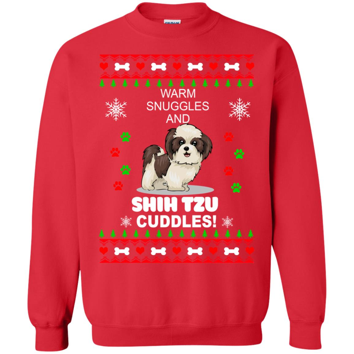 Warm snuggles and ShihTzu cuddles Christmas Sweater, Shirt - image 3988