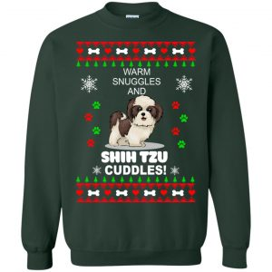 Warm snuggles and ShihTzu cuddles Christmas Sweater, Shirt - image 3989 300x300