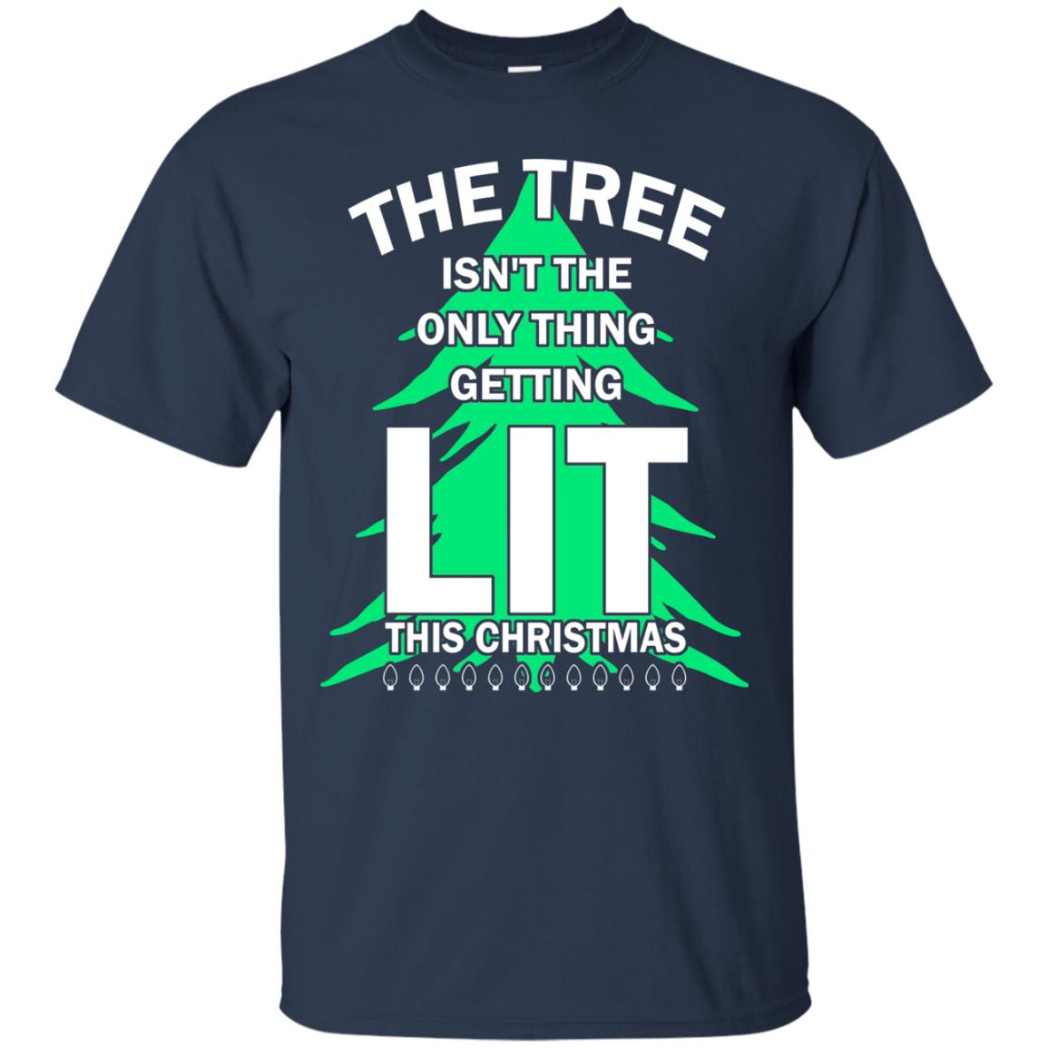 the tree isnt the only thing getting lit this year christmas sweater shirt