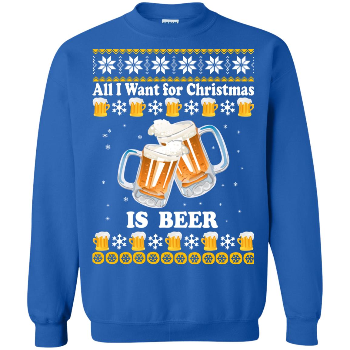 Beer Christmas Sweater.All I Want For Christmas Is Beer Ugly Sweater Shirt Icestork