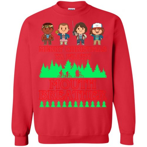 Stranger Things Merry Christmas Ya Filthy Mouth Breather Sweater, Shirt - image 5159 500x500