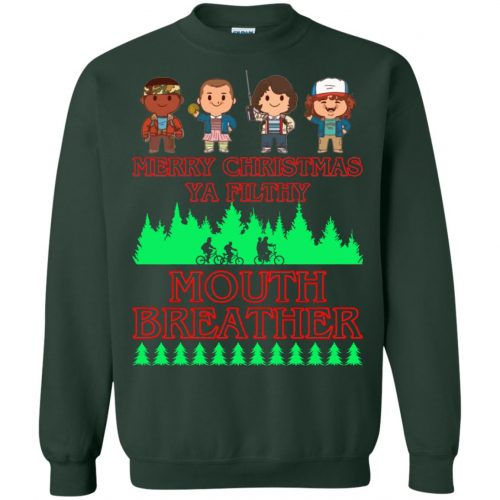 Stranger Things Merry Christmas Ya Filthy Mouth Breather Sweater, Shirt - image 5160 500x500