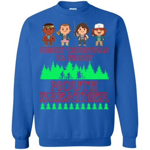 Stranger Things Merry Christmas Ya Filthy Mouth Breather Sweater, Shirt - image 5161 500x500