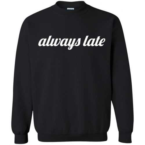 Always late funny shirt, hoodie - image 651 500x500