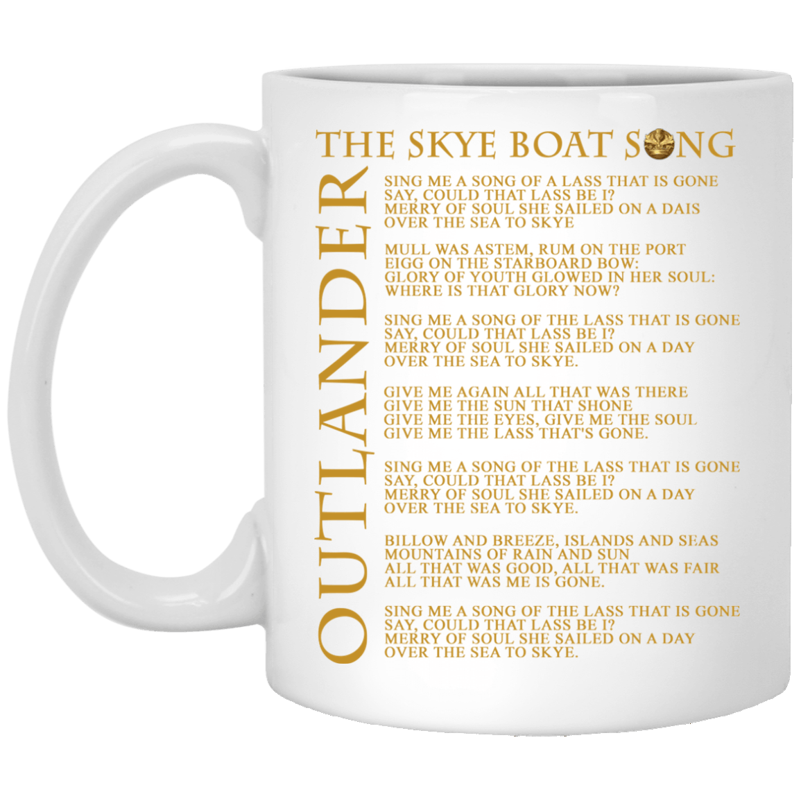 Outlander: The Skye boat song lyrics mugs